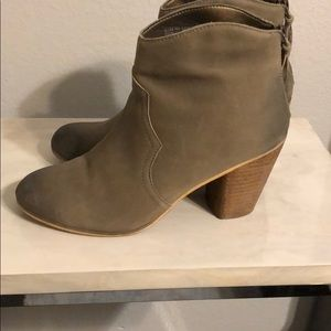 Taupe ombré ankle booties